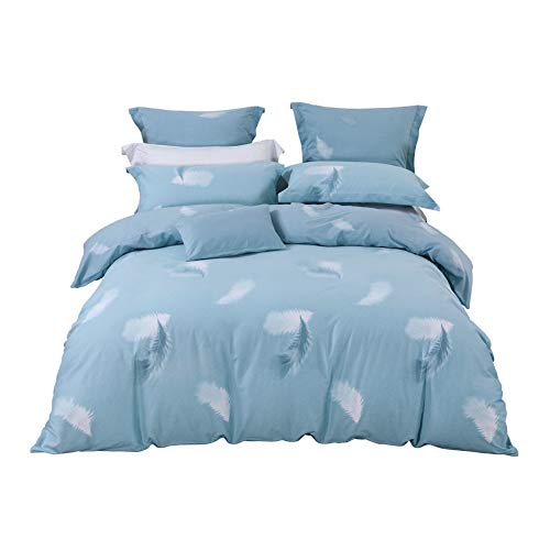 Save %41 Now! KE & LE Duvet Cover Sets 4 Pieces, Bedding Queen Down Comforter Full Queen King Beddin...