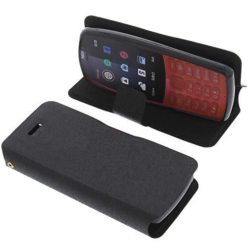 foto-kontor Tasche für Nokia 210 Book Style schwarz Schutz Hülle Buch