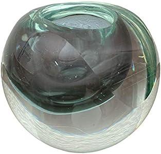 Portavelas de cristal candelero vidrio estilo antiguo murano 11cm