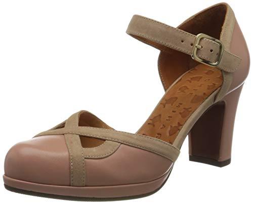 Chie Mihara Janis, Zapatos con Tacon y Correa de Tobillo Mujer, Rosa (Goya Nude Ante Peach Goya Nude Ante Peach), 39 EU