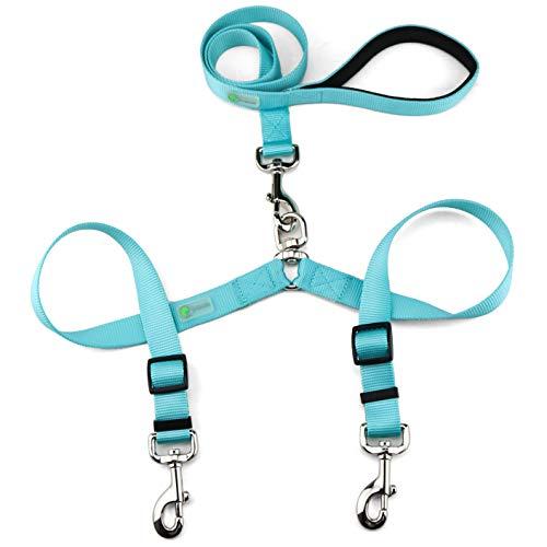 DCbark Tangle Free Double Dog Leash