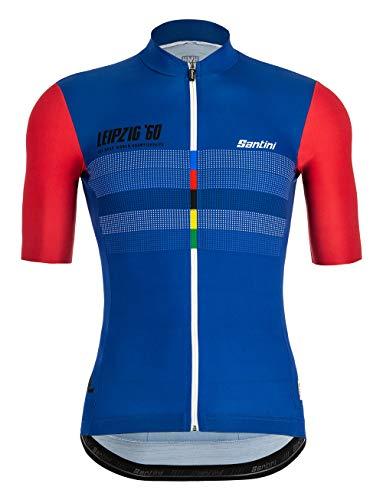 Santini UCI Beryl, Camiseta de Manga Corta para Hombre, Hombre, RE94075SBERYL, Multicolor, X-Large