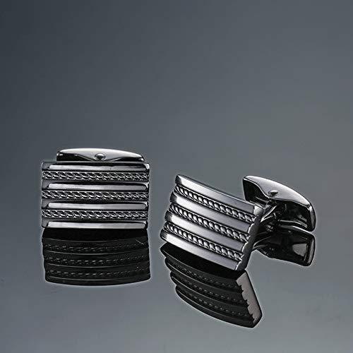 jiao Style Black Propeller Manschettenknöpfe für Herren Shirt Markenanzug Manschettenknöpfe Manschettenknöpfe Flieger Schmuck 15