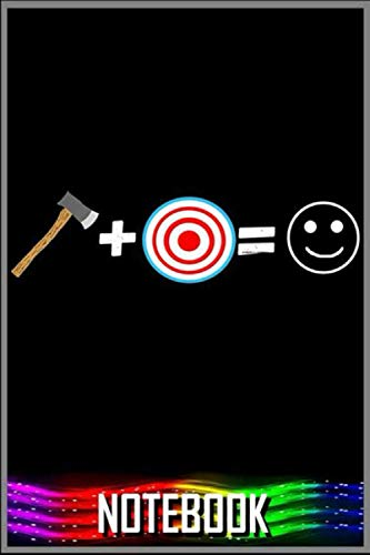 Notebook: Happy Axe Thrower Hatchet Throwing Lumberjack Emoticon Premium T-Shirt - 100 pages 6x9 inch by Tocden GOmun