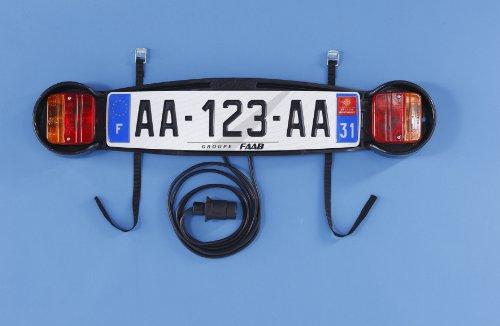 Mottez - Placa de señalización para portabicicletas Trasero
