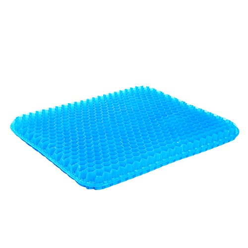 HXGL-Drum Gel Seat Cushion for Office Chair - Cool Large Seat Cushion for Back Pain Relief - Contoured Posture Corrector for Car, Wheelchair, Computer and Desk Chair