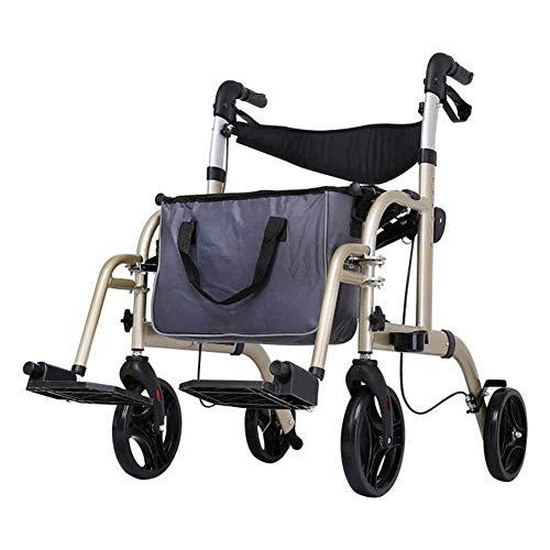 Y-L rolstoel aluminiumlegering wandelstoel verstelbare parkeerplaats met opbergtas