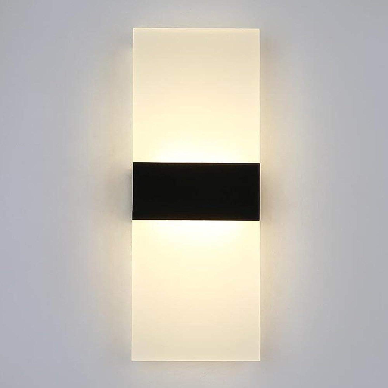 YLCJ Wandleuchten Wandleuchte Led Acryl Wandleuchte Flur Flur Lichter Schlafzimmer Nachtlampe Eisen Art28cm