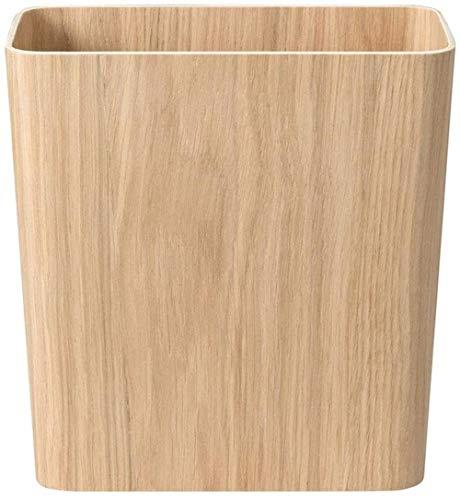 Vuilnisbakken hout zonder deksel in vuilnisbakken creatieve vintage vuilniszakken prullenbak clip vuilnisbakken papier opslag mand mand papiermanden, Maat: 28,5 * 15,5 * 30,5 cm, Kleur: Geel