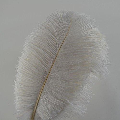 10 plumas de avestruz Crenze de 30 a 35 cm para decoración de bodas (10 colores)
