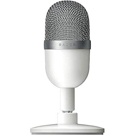 Razer RZ19-03450300-R3M1 - Seiren Mini Micrófono compacto para USB para streaming, compacto con patrón polar supercardioide, soporte inclinable, amortiguador integrado, Mercury / Blanco