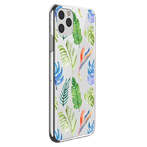 Suhctup Motivo Floral Funda Compatible con Xiaomi Redmi 6A,Ultradelgada Suave Transparente TPU Silicona Antigolpes Protector Diseño con Estampado Floral Vegetal Hermosa Caso