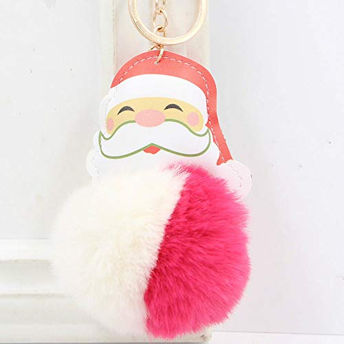 Weihnachtsmann Haarfarbe Schöne Kugel Keychain Beutelanhänger Zubehör2Ge
