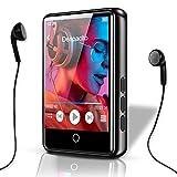 FemKey Reproductor MP3, MP3 Player Bluetooth 5.0, con 2.4' Pantalla Táctil Completa Cuerpo de Metal con Altavoz Video FM Grabación E-libro Hasta 128G SD. Manual Español y Auriculares Incluidos.
