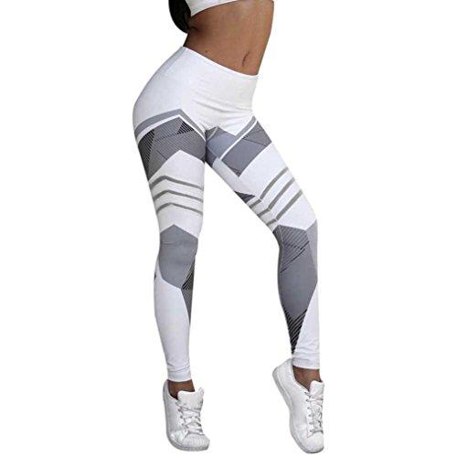 Neartime Yoga Pants Women's Letter Fitness Athletic Yoga Leggings S K-White