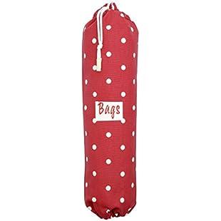 Extra Large Plastic Bag Holder Red Polka Dot (Choice of Size):Hashflur