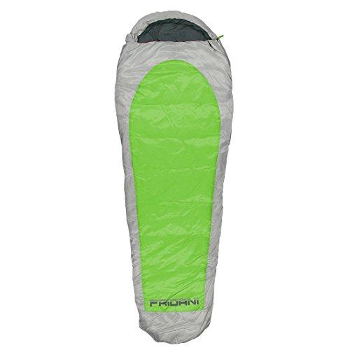 FRIDANI EG 235S XXL Camping Saco de Dormir de hasta 20°C Exterior Momia Saco de Dormir 235x 85cm cabaña Saco de Dormir con 1900g para 3/4Estaciones Primavera Verano Otoño