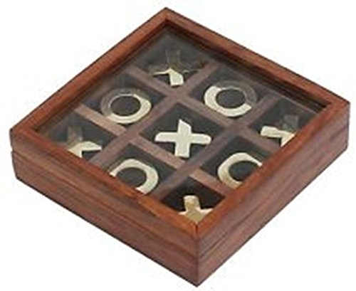 Royal Handicrafts Tic Tac Toe Board Game Wooden Noughts and Crosses