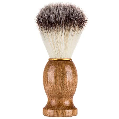 FOLWME Effectivement Blaireau Cheveux Rasage Rasoir Brosse Salon Beauté Nettoyage Appareil avec Poignée en Bois pour Hommes