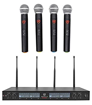 Rockville RWM90U UHF (4) Wireless Handheld Microphones 4 Church Sound Systems review