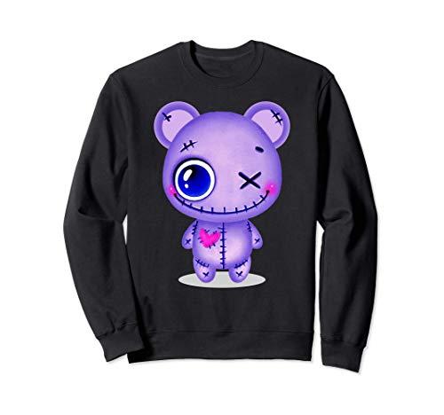 Creepy Pastell Teddy Bär Lila Japanische Sad Ästhetik Sweatshirt