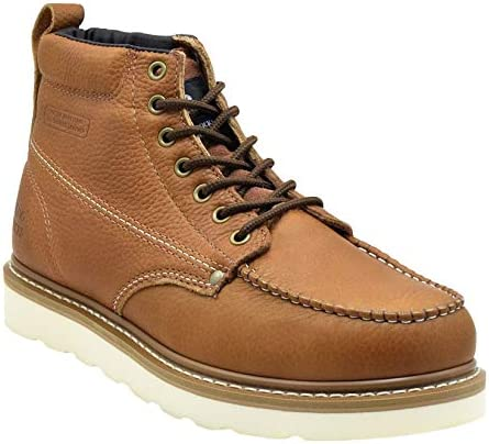 King Rocks Men's Moc Toe Boots Work We OFFer at cheap prices Shoes Construction 4 years warranty