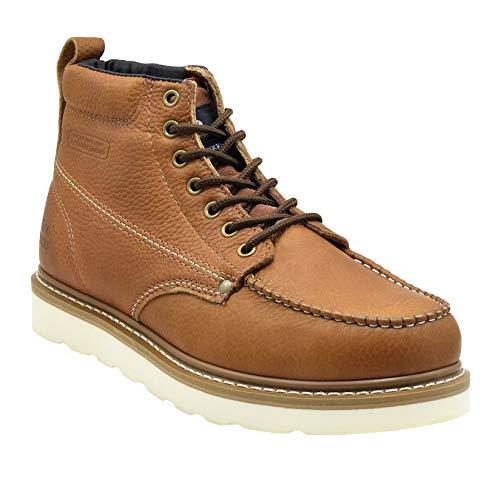 King Rocks Men's Moc Toe Construction Work Boots,...