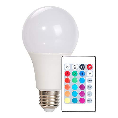 OeyeO Bombillas de colores LED, E27 RGBCW 16 opciones LED de color regulable con mando a distancia, 10 W LED que cambian de color para casa, fiestas