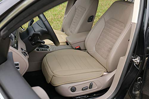 EDEALYN Car Seat Cover Front seat Protection Cover for Truck, SUV,1pcs Front Row seat Cover (L, Beige)