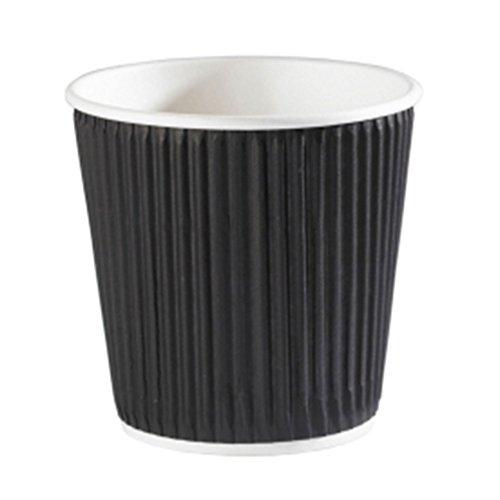 Lot de 40 gobelets à café jetables en papier Kraft Noir 120 ml