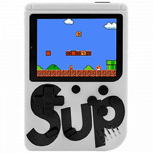 Sup Game Box Console Portatile Videogioco 8 Bit 400 Giochi Schermo Colori Retro\' Nostalgic (Bianco)