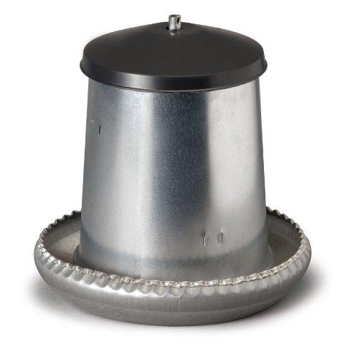 Futtertrog (Futterautomat) 5 Kilo Metall für Geflügel