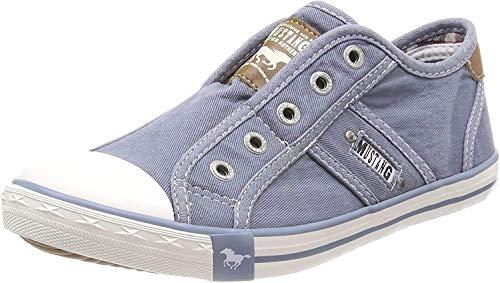 MUSTANG Damen 1099-401-807 Slip On Sneaker, Blau (Himmelblau 807), 38 EU