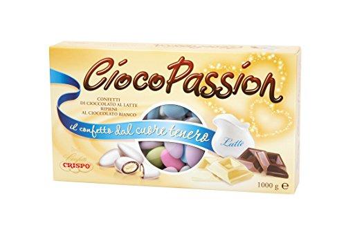 Crispo Confetti Cioco Passion Cioccolato al Latte con Cuore di Cioccolato Bianco - Colori Assortiti - 1 kg