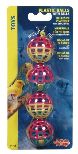 Living World 4 Plastic Balls with Bells
