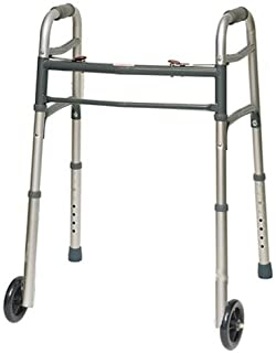 """ProBasics 2 Button Folding Walker with 5"""" Wheels (1)"""
