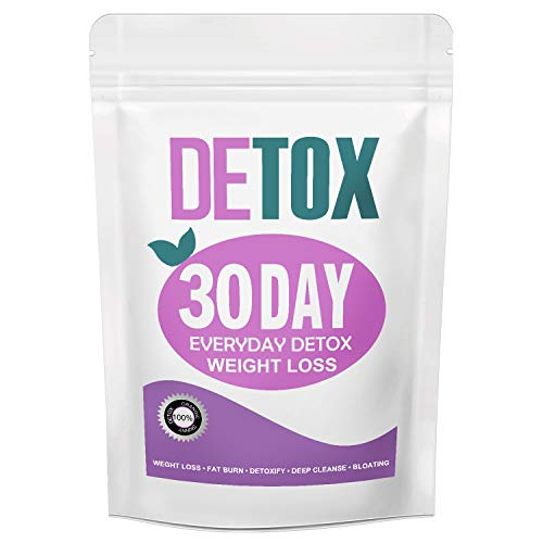 Detox Weight Loss Tea for Women, Gentle Detox Tea, 30 Day Skinny Tea for Slimming - Colon and Body Cleanse Detox Tea, Belly Fat