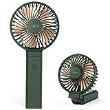Funme Ventilatore a Batteria Silenzioso Ventola USB Ricaricabile 5000mAH 20 Ore Mini Ventilatore Portatile Potente Pieghevole Ventilatore Elettrico Verde per Viaggi Spiaggia Ragazza Donna Uomo