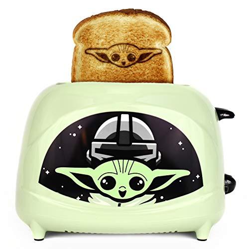 Uncanny Brands Star Wars The Mandalorian The Child Tostadora de 2 rebanadas - Tostadas Baby Yoda en tu tostada