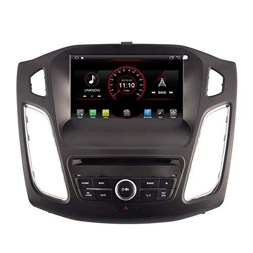 Android 10 Coche Reproductor de DVD GPS Estéreo Unidad de cabeza Navi Radio Multimedia WiFi para Ford Focus 2015 2016 2017 Soporte Control de volante Mirrow Link
