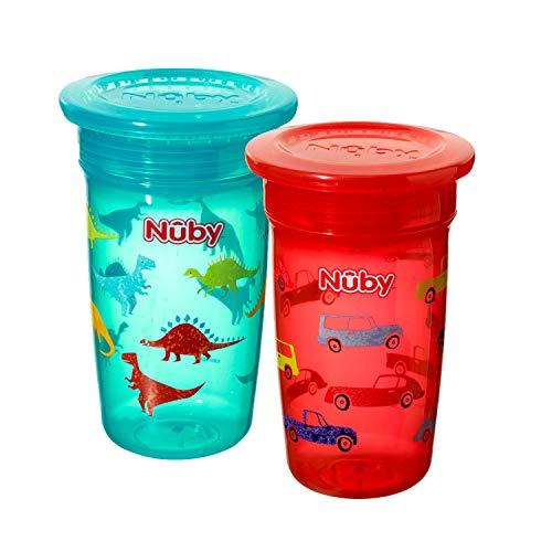 Nuby 360 °- Wonder Maxi Tazas, paquete de 2 [colores surtidos]