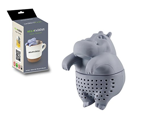 HelpCuisine® Infusor de te/infusionador/colador te/filtro te/infusores de te, hecho de silicona 100% alimentaria libre de BPA, infusor en forma de Hipopotamo, Nuevo diseno!