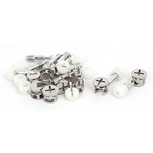 Aexit Möbelverschraubungen Verbindungsschrauben Nocken - Dübelmuttern Silver Tone 10 Sets (dea782f0816a56a7340bde3d72c09f1c)