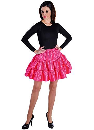 narrenkiste M211156-4-L - Enagua para mujer (satn, talla L), color rosa