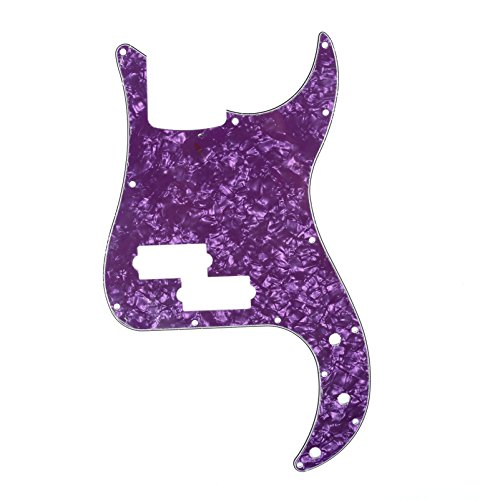 Musiclily 13 Agujeros Precision Bass Pickguard Golpeador para Fender American/México Standard Bajo Estilo P, 4 capas Purple Pearl