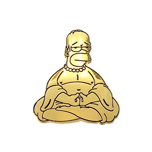 Gold Buddha Golden Homer Zen Simpsons Enamel Pin