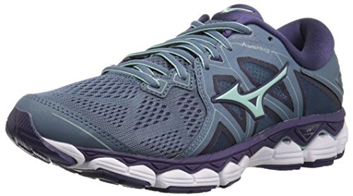 Mizuno Women's Wave Sky 2 Running Shoe, Blue Mirage/Purple Plumeria, 10.5 B US
