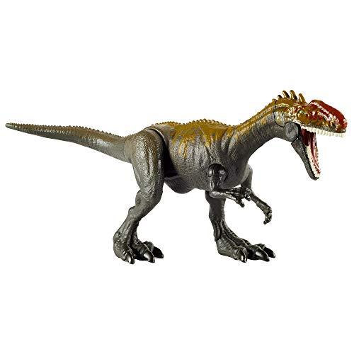 Jurassic World Attaque Sauvage figurine dinosaure articulé Monolophosaurus, jouet pour enfant, GVG51