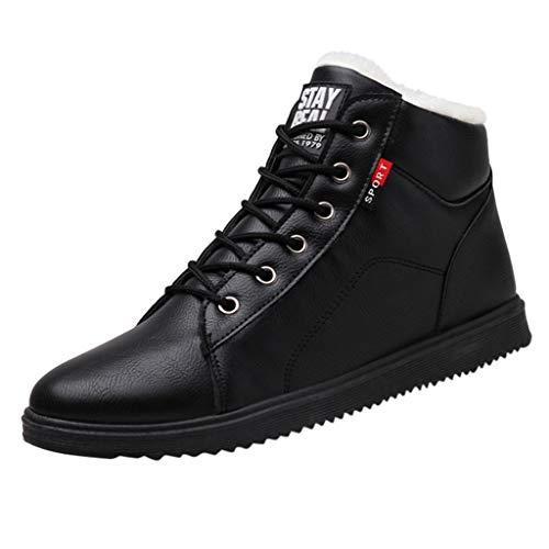 HoSayLike Botas De Hombre OtoñO E Invierno Botas Martin Antideslizante Resistente Al Desgaste Al Aire Libre Cabeza Grande Zapatos De Herramientas Zapatos para Hombres