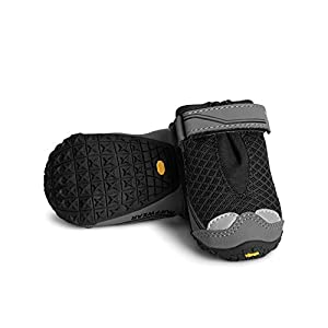 RUFFWEAR, Grip Trex Outdoor Dog Boots with Rubber Soles for Hiking and Running, Obsidian Black, 2.0 in (2 Boots)